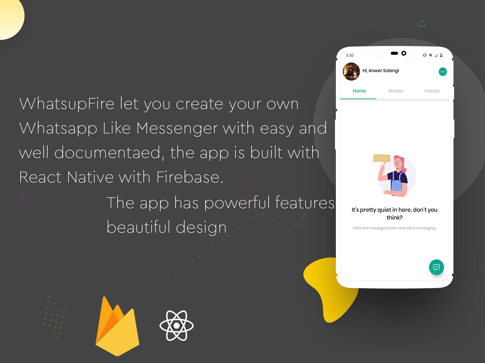 WhatsupFire - React Native Messenger - 2