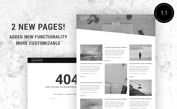 Black&White - Creative Multipurpose WordPress Theme - 4