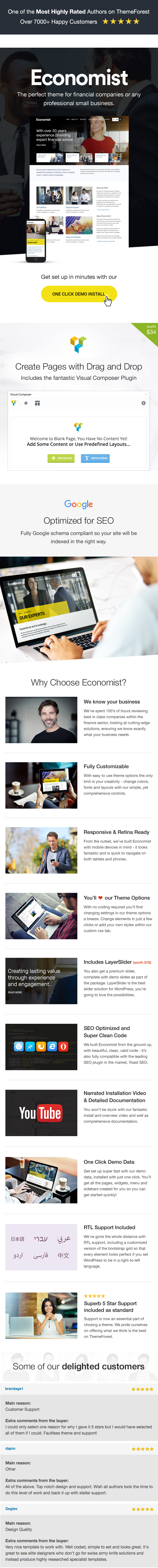 Economist WordPress Theme Features