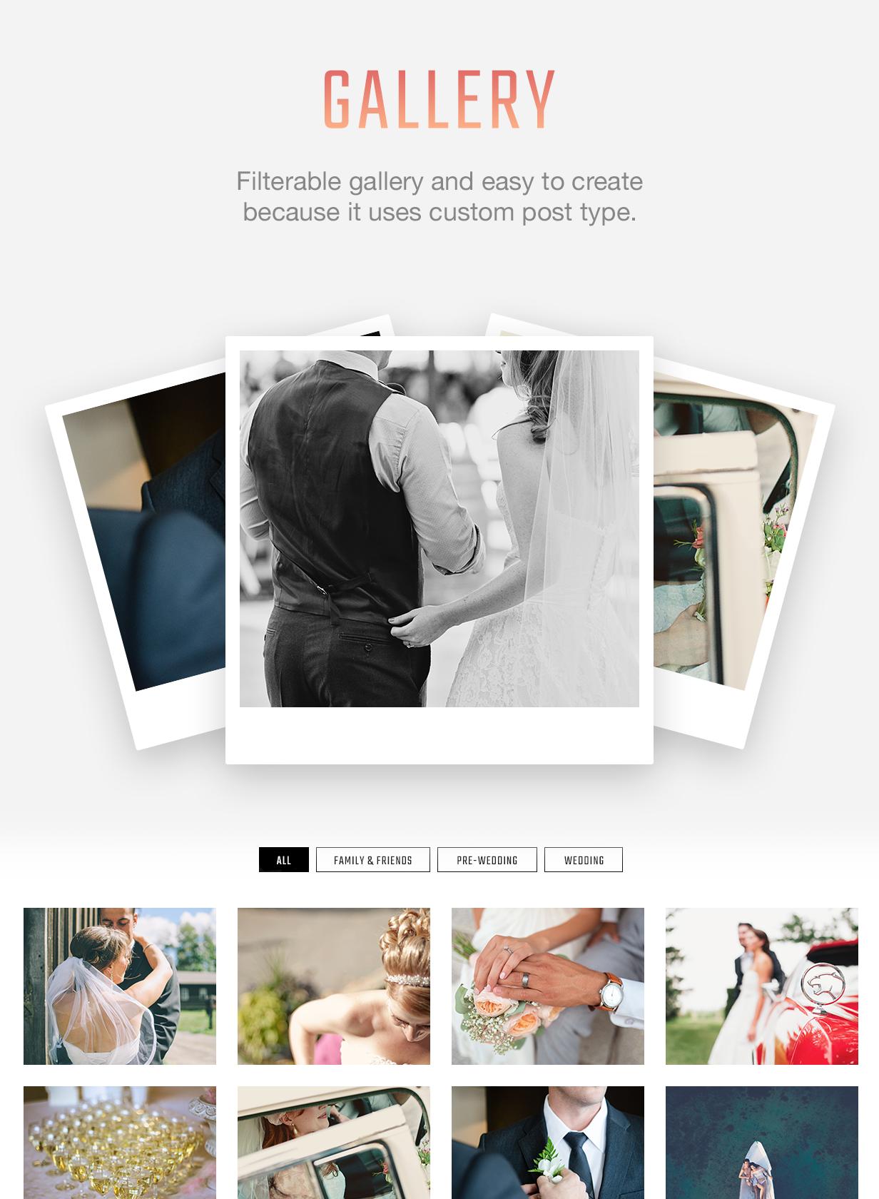 Kabheen - Modern Wedding WordPress Theme - 5