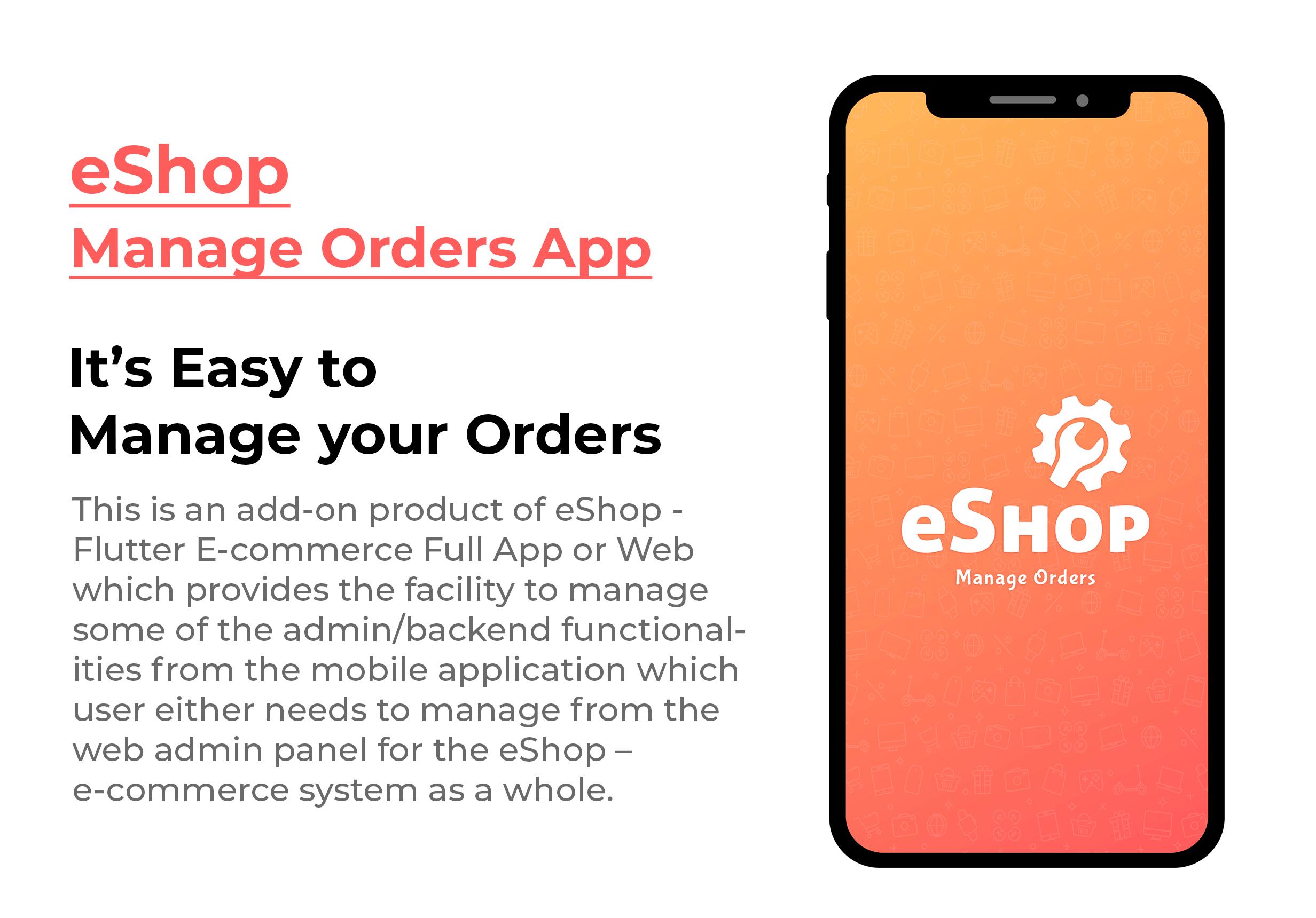 eShop - Ecommerce Admin / Store Manager app - 3