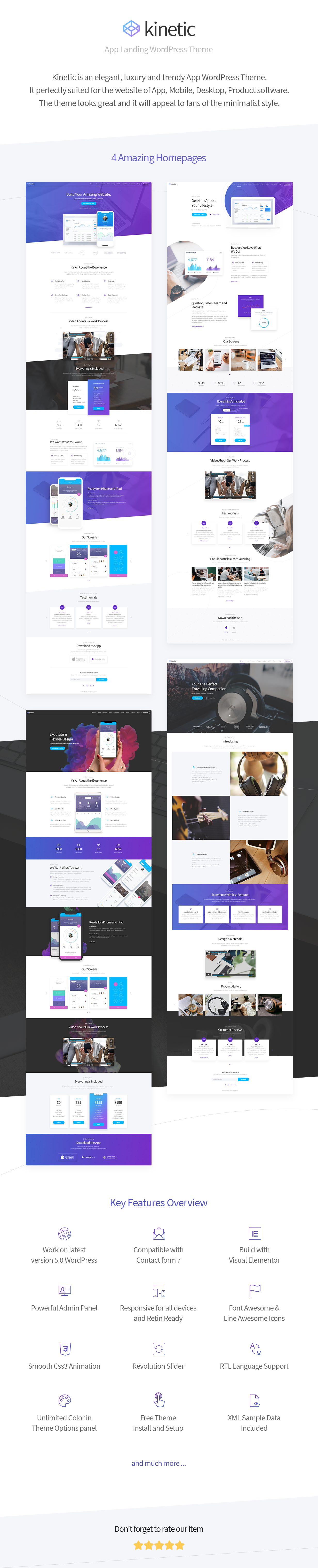 Kinetic - Desktop, Mobile & Product App WordPress Theme