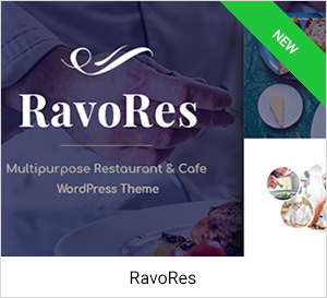 Restaurant & Cafe WordPress Theme