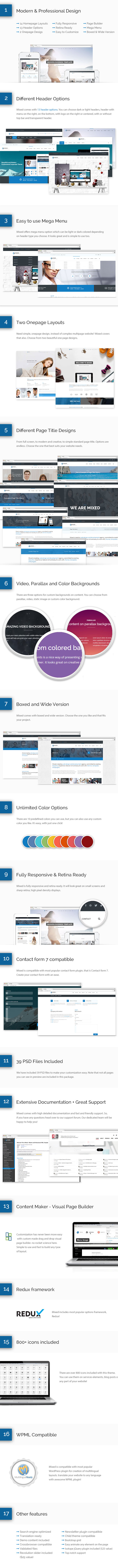 Mixed - Modern and Professional WordPress Theme - 2