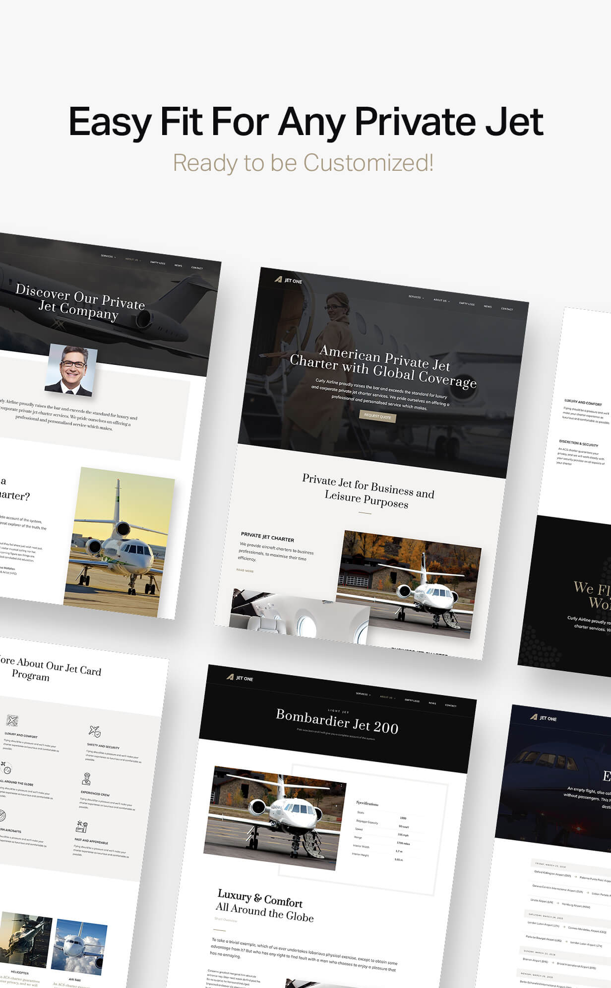 Jet One - Private Airline WordPress Theme