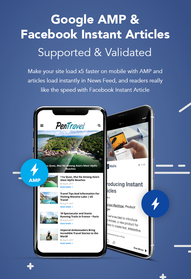 PenNews - News/ Magazine/ Business/ Portfolio/Reviews Landing AMP WordPress Theme - 7