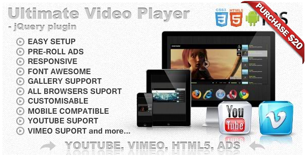 aea055a9ef Ultimate Video Player with YouTube, Vimeo, HTML5, Ads by _CreativeMedia_