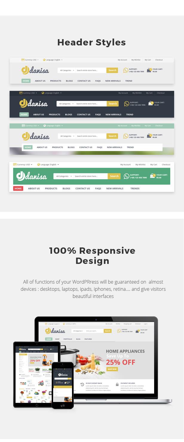 Danisa - Theme for WooCommerce WordPress