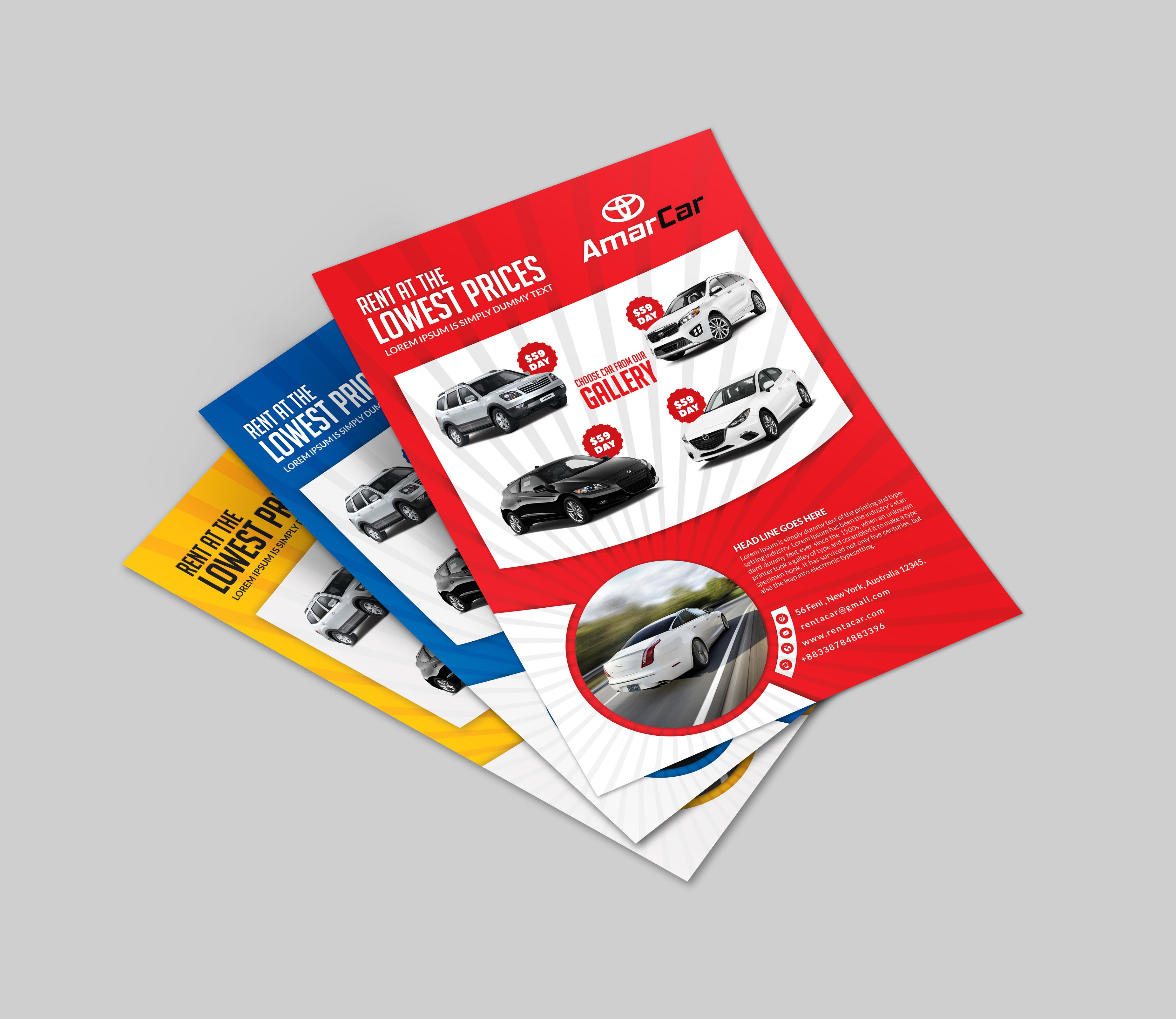 Rent A Car Business Card - 3