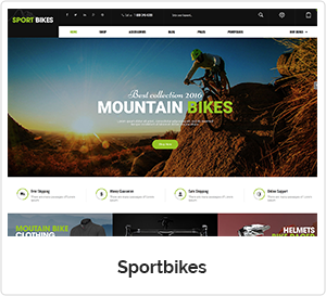 SportBikes - Sports WordPress Theme