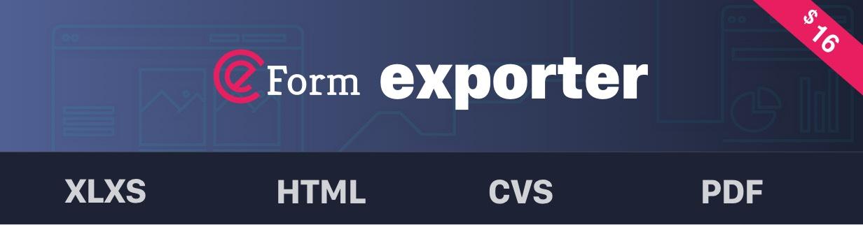 eForm Exporter