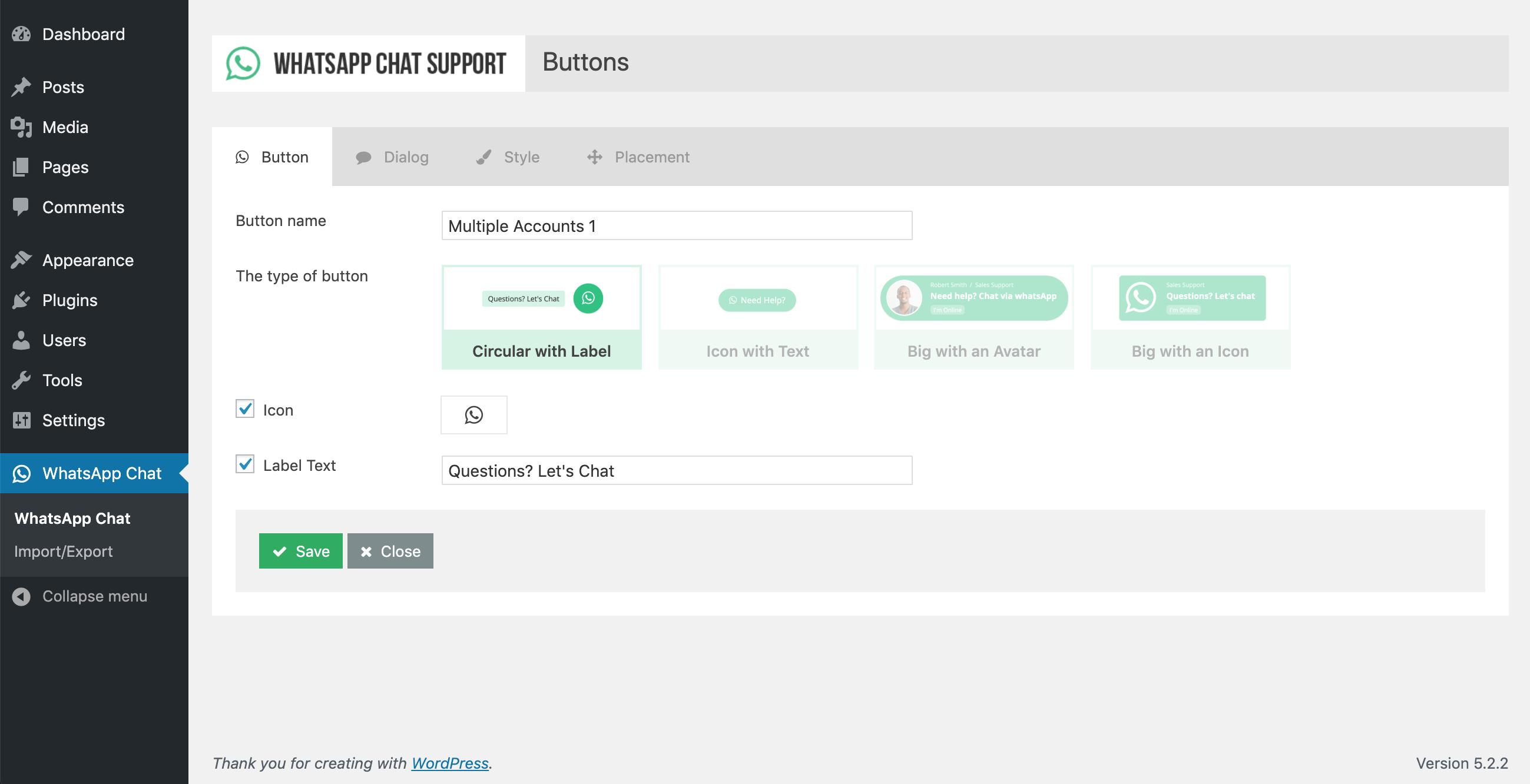 WP WhatsApp Chat Support - WordPress Plugin - 3
