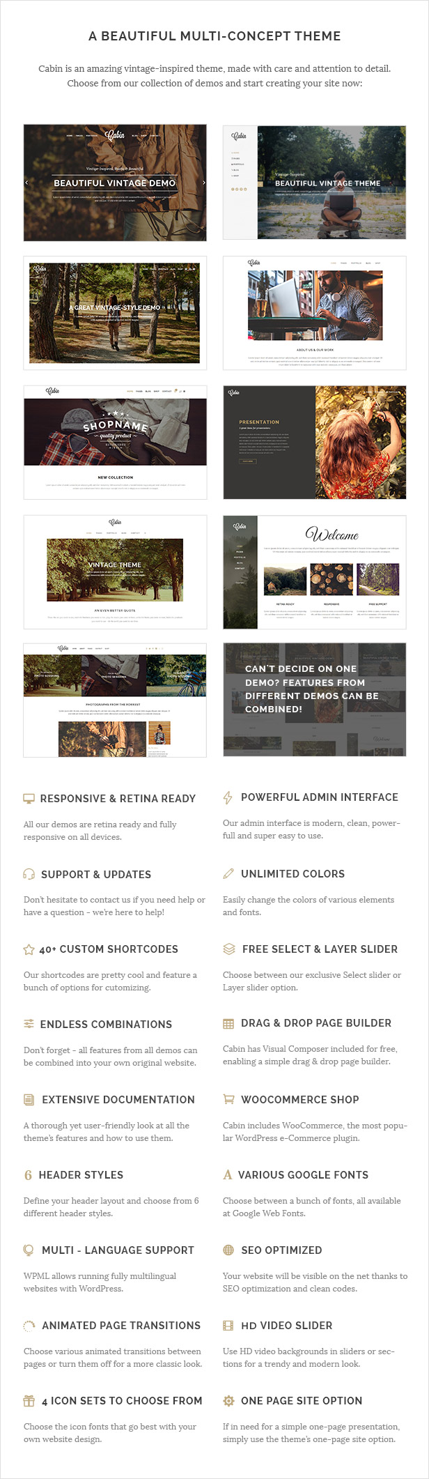 Cabin - Beautiful Vintage Theme by Select-Themes | ThemeForest