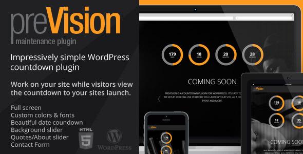 preVision Responsiv WordPress Maintenance Plugin