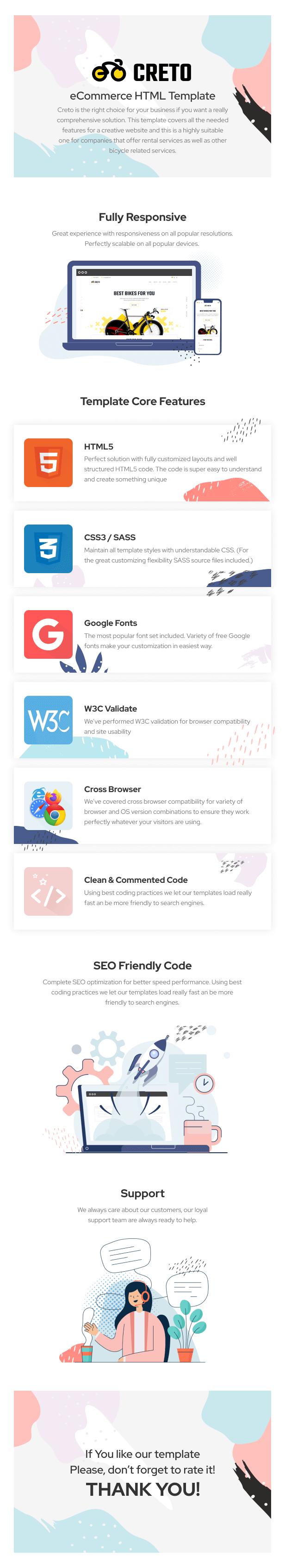 Creto   eCommerce HTML Template - 5
