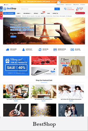 BestShop - Multipurpose Sectioned Drag & Drop Bootstrap 4 Shopify Theme