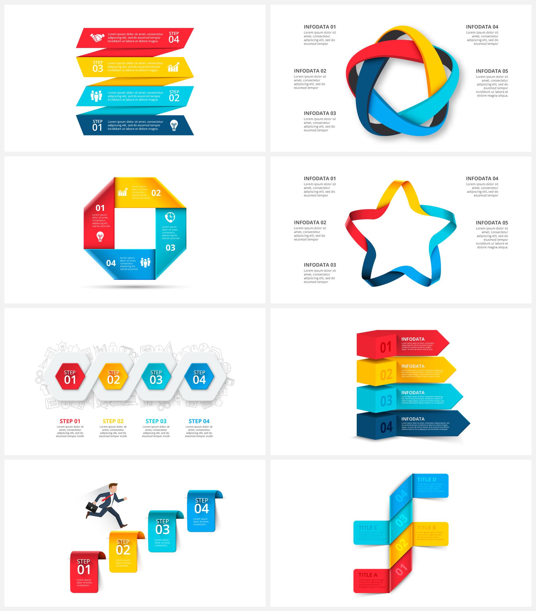 Multipurpose Infographics PowerPoint Templates v.5.0 - 110
