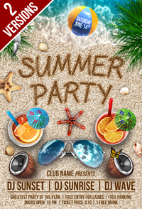 Summer Party Flyer Template - 3