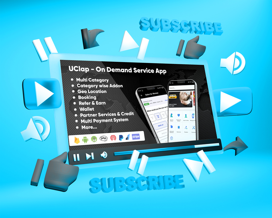 UClap - On Demand Home Service App | UrbanClap Clone | Android App with Interactive Admin Panel - 8