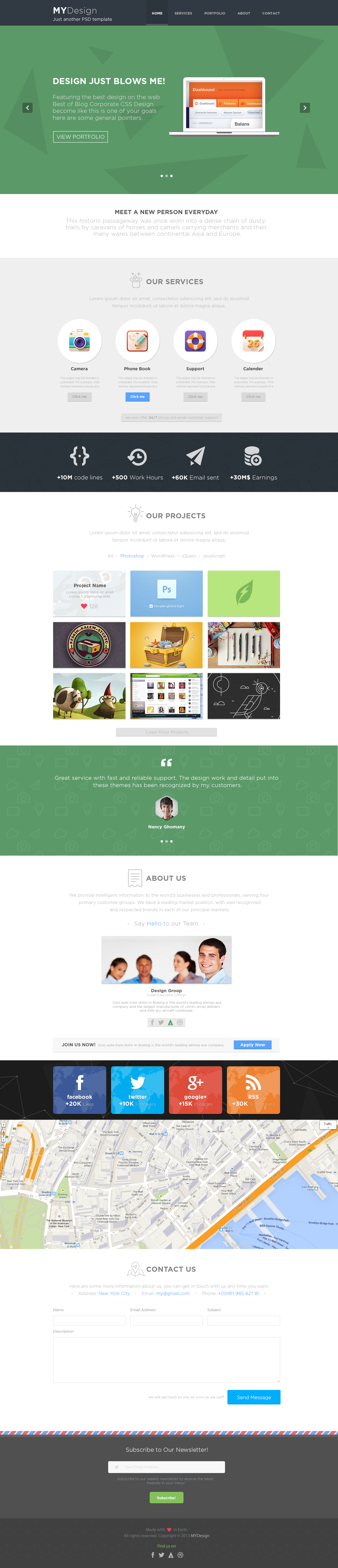 mydesign onepage multipurpose flat html template by pixfort