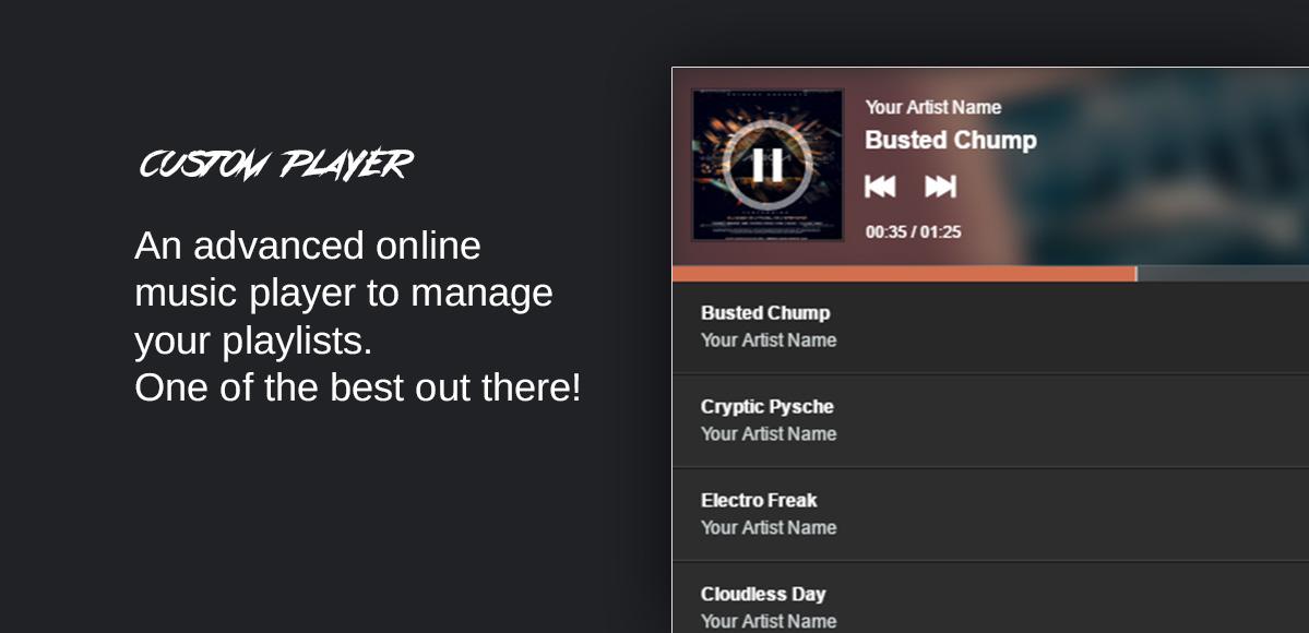 custom player playlist manager