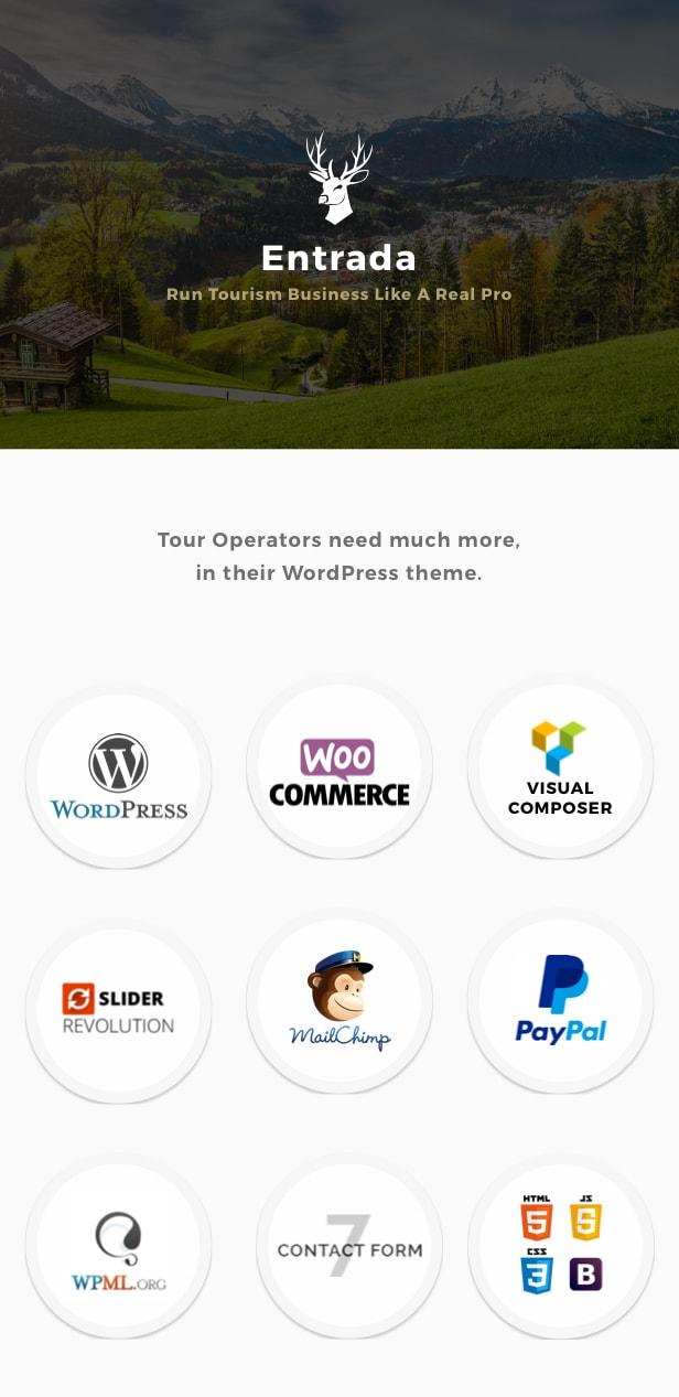 Entrada Tour Travel Booking WordPress Theme - 1