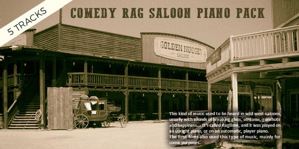 Comedy Rag Saloon Piano Pack