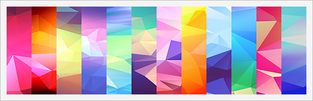 12 Light Leak Polygonal Background Textures #3