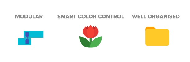 Modular   Smart Color Control   Well organised
