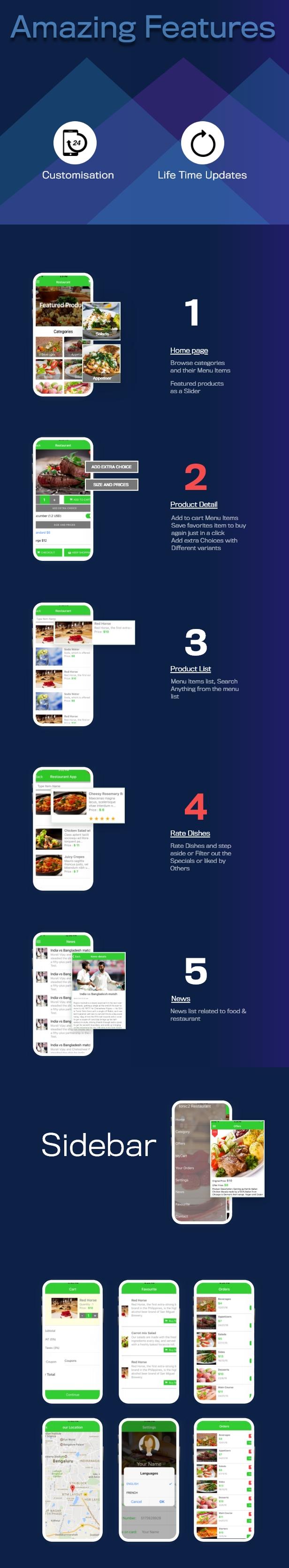 Firebase ile İon 3 Restoran uygulaması - 5