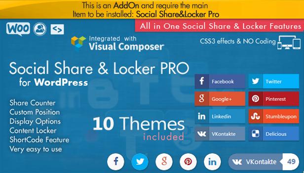 Social Share Point AddOn  - WordPress - 5