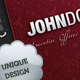 Leather Style Business Card - 23