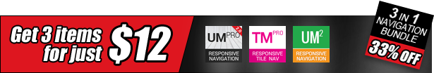 Multipurpose Responsive Navigation Menu - 1