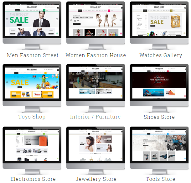 Bella - eCommerce HTML Shop with RTL - 1