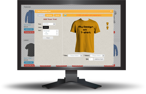 OpenCart Custom T-Shirt Design - 11