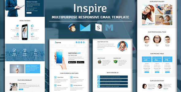 LeadGen - Multipurpose Responsive Email Template With Stampready Builder Access - 2