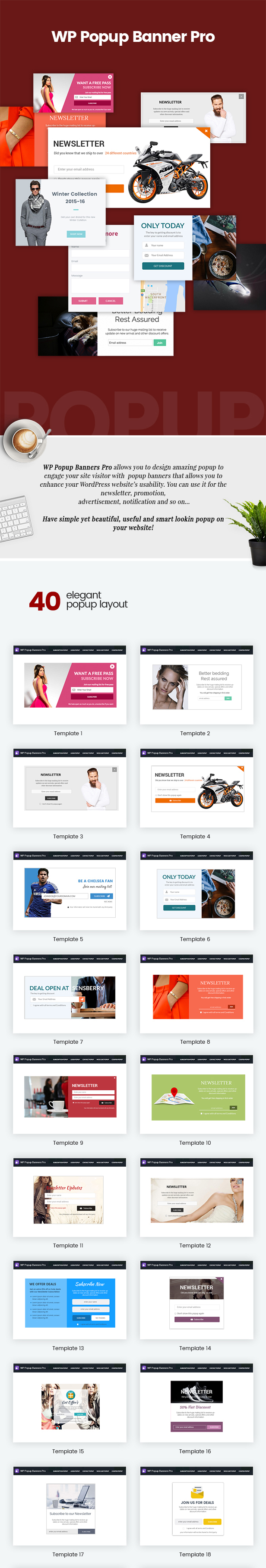 WP Popup Banners Pro - Ultimate popup plugin for WordPress - 1