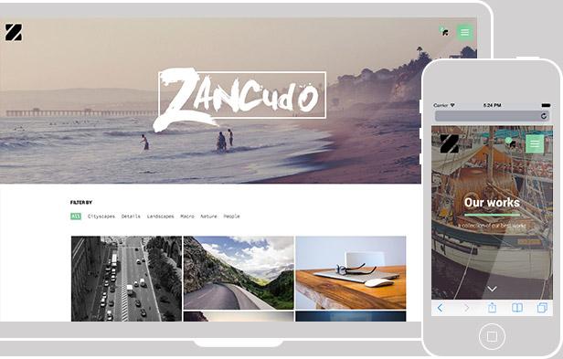 Zancudo - Mighty fullscreen theme for creatives - 1