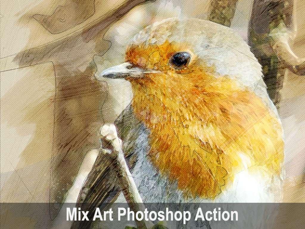Mix Art Photoshop Action
