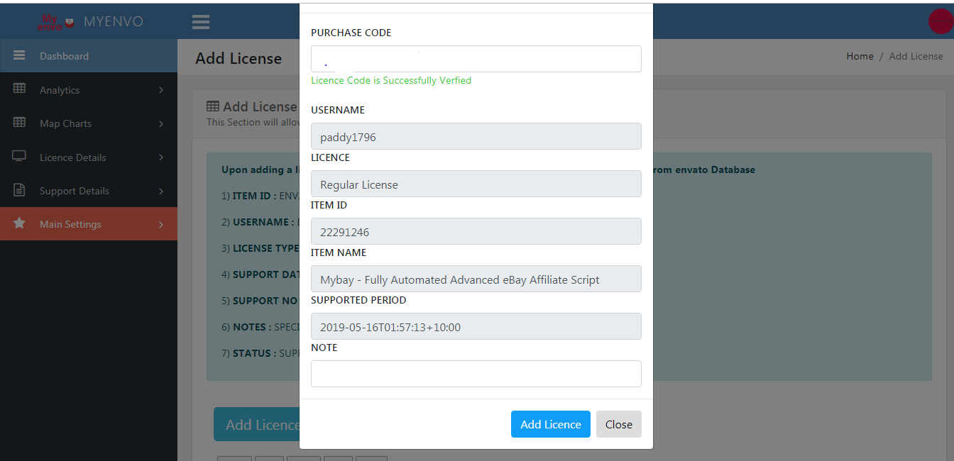 Myenvo - Envato Analytics & Notification Dashboard Script - 3
