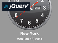 jQuery Time Zone Clocks