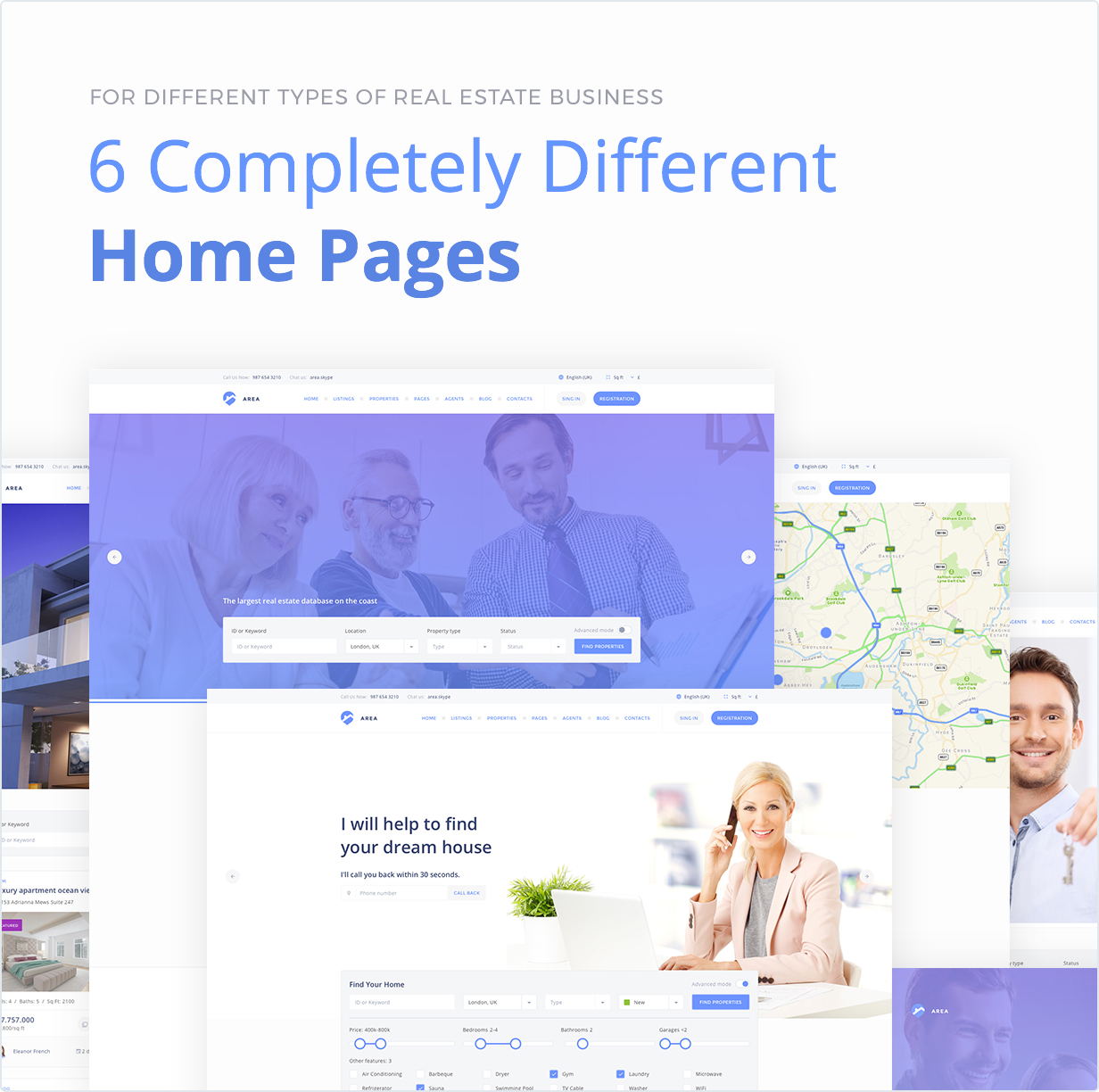 6 Completely Different Home Pages