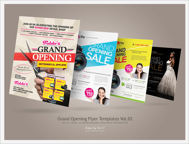 Grand Opening Flyers Vol By Kinzi  Graphicriver