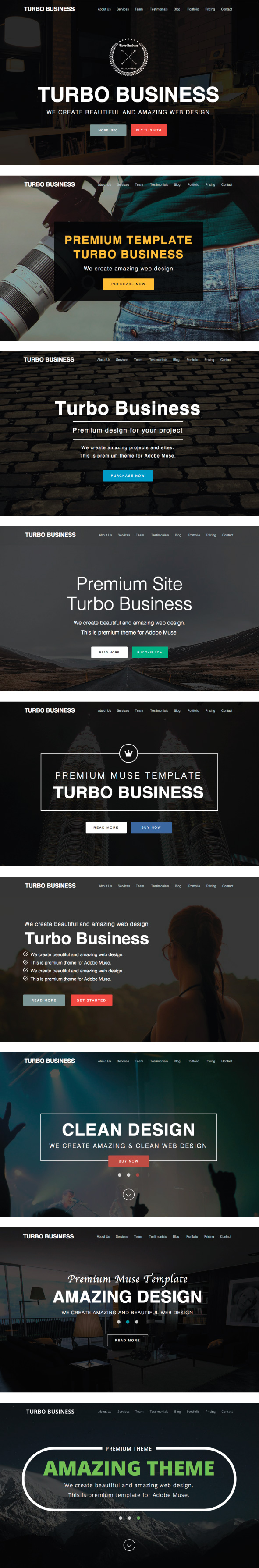 Turbo Business - Premium Muse Template - 1