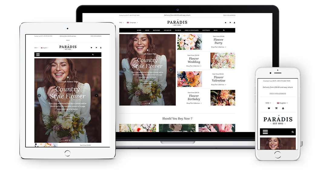 Paradise - Fully Responsive