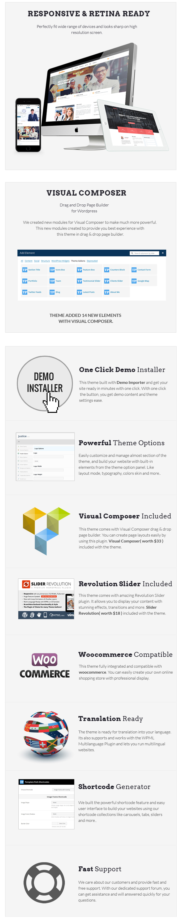 JUSTICE - Law & Business WordPress Theme - 1