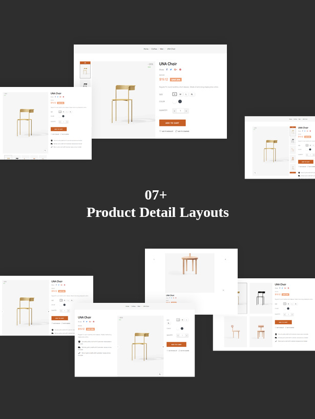 Various Style for Product Page