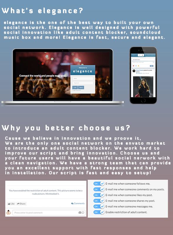 Elegance | The Elegant PHP Social Network System - 1