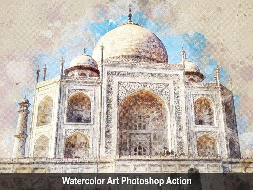 Watercolor Art Photoshop Action Vol 2