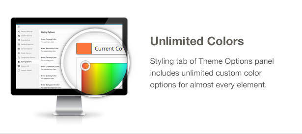 Ecobox WordPress Theme Features: Unlimited Colors